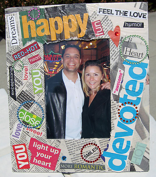 love newspaper frame